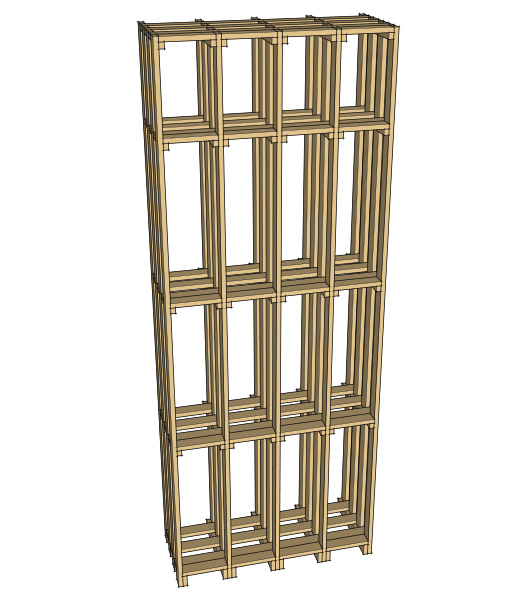 CaveauStar Weinregal CS-Basic-02 – 3D-Ansicht