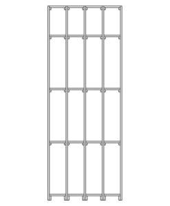 Weinregal CS-Basic-02 - Technische Skizze