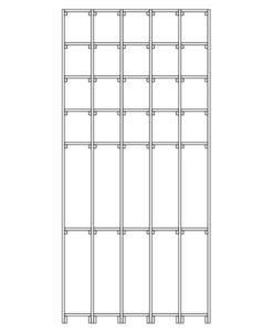 CaveauStar Weinregal CS-Basic-11 - Technische Skizze