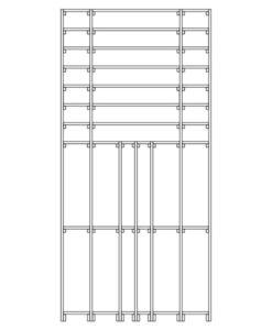 CaveauStar Weinregal CS-Basic-12 -Technische Skizzen